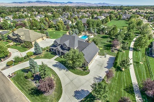 Aerial Photography of a large eagle home with no neighbors