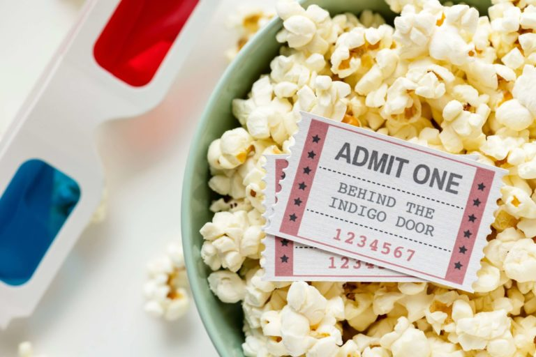 Popcorn and Ticket to Movies In the Park In Eagle Idaho